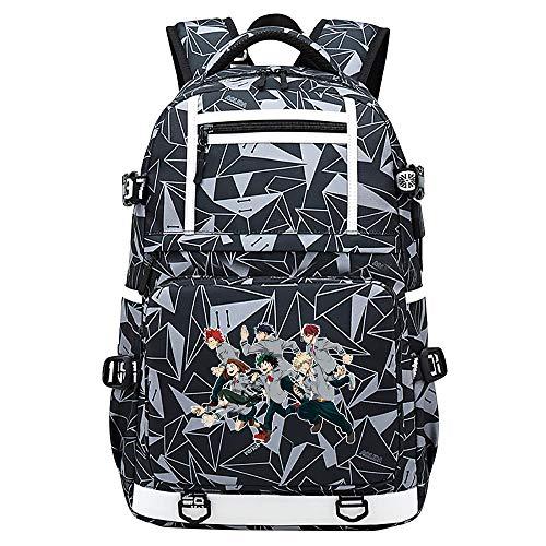XYUANG My Hero Academia deku/Todoroki Shoto USB Anime Zaini Casual backpack Daypack per bambini portatili zaino-I