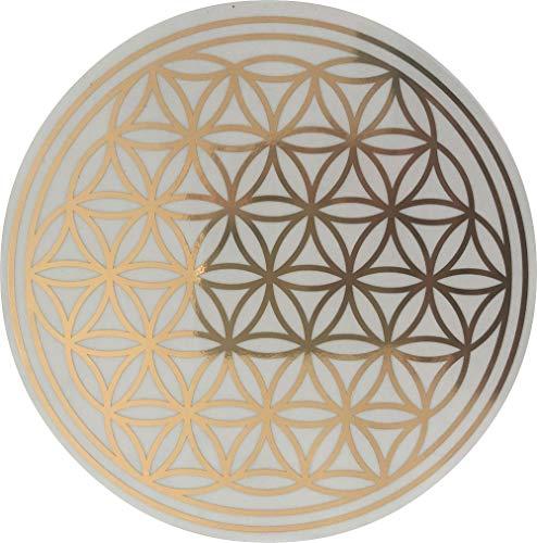 Blume des Lebens Aufkleber Farbe Gold 6 cm 10 St. | energetisches Symbol Lebensblume auf Folie wasserfest transparent | Esoterik Geschenke günstig kaufen