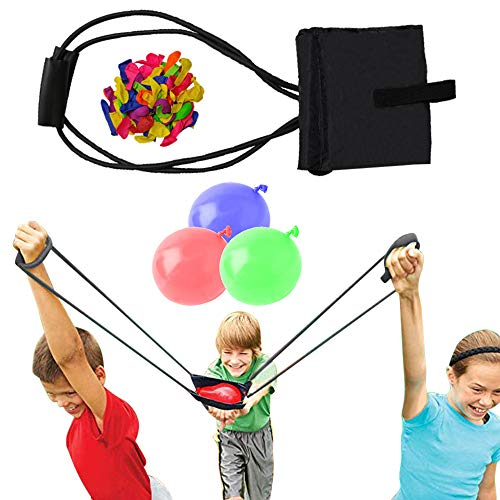 Water Balloon Launcher / Cannon / Slingshot / Potato Catapult - Waterballoon Baloons ballons Bulk Bunch Sling Shots Shot – TShirt Gun Summer Outdoor Water Ballon Bombs Toy & Games for Kids & Adults