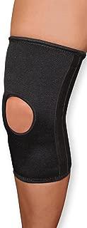 WellWear Elastic Knee Black Stabilizer, Large/Extra Large