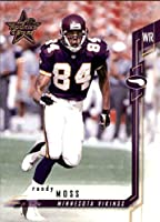Football NFL 2001 Leaf Rookies and Stars #70 Randy Moss #70 EX Vikings