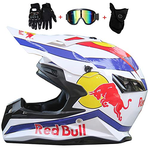 Casco Motocross,Uomini E Donne Downhill Locomotiva Endurance Gara Anti-Collisione Traspirante Casco...