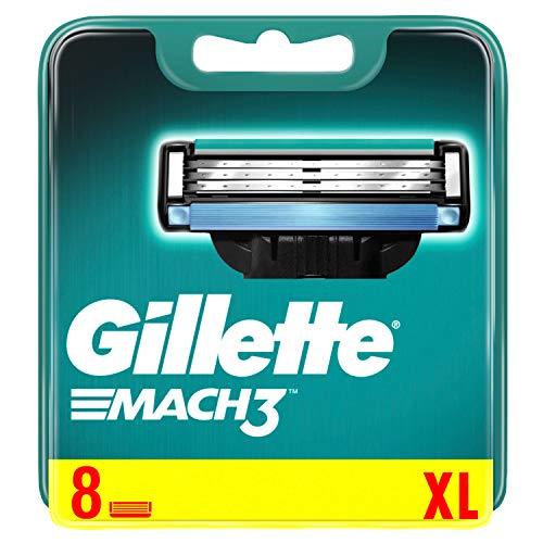 Gillette Mach3 - Cuchillas de afeitar con tiras de humedad mejoradas, 8 cuchillas de repuesto