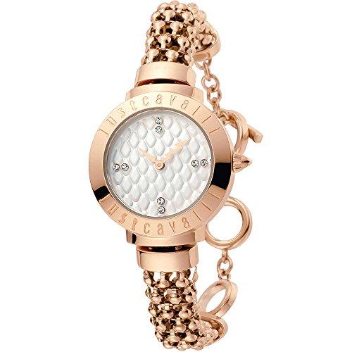 Just Cavalli Damen Analog Quarz Uhr mit Edelstahl Armband JC1L048M0055