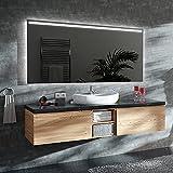 ARTTOR LED Miroir Mural Salle de Bain et WC - Carré et Rectangulaire - Différentes Variantes de la Couleur Claire et de Toutes Les Tailles - Decoration Murale - M1ZP-31-130x80