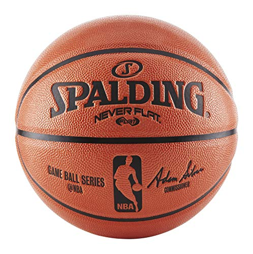 Great Deal! Spalding NBA Never Flat Game Replica Ball, 28.5-Inch/Size 6