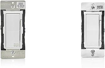Leviton DH6HD-1BZ 600W Decora Smart Dimmer for iOS and Leviton DD00R-DLZ 120VAC 60 Hz Decora Digital/Decora Smart Matching Dimmer Remote