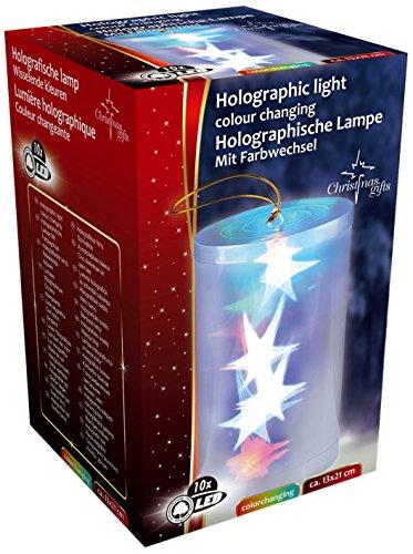 Eddy Toys X-Mas tube holgraphic 10 LED, 13 x 21 cm 79998