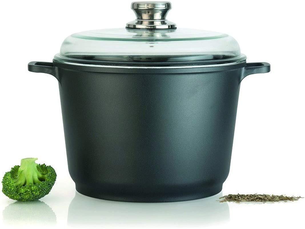 Eurocast Professional Cookware 8 3 5L Casserole Pot With Glass Lid