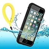 Funda Impermeable iPhone 8 Plus/iPhone 7 Plus, IP68 Waterproof Outdoor Delgado Cover a Prueba de choques Anti-rasguños Full Body con Protector de Pantalla Funda for iPhone 8 Plus / 7 Plus (Black)