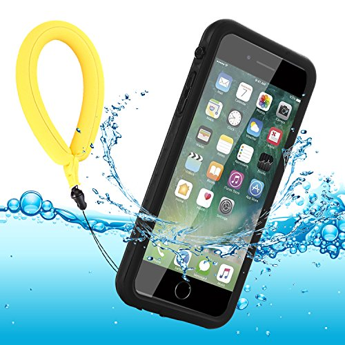 Funda Impermeable iPhone 8 Plus/iPhone 7 Plus, IP68 Waterproof Outdoor Delgado Cover a Prueba de choques Anti-rasguños Full Body con Protector de Pantalla Funda for iPhone 8 Plus / 7 Plus (Black)