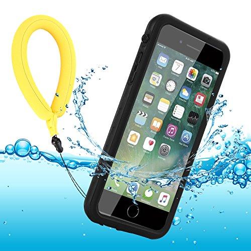 BDIG Custodia iPhone 8 Plus Impermeabile iPhone 7 Plus IP68 Certificato Waterproof Cover Slim Antiurto Antineve Antipolvere AntiGraffio Caso Full Custodia Protettiva per iPhone 8 Plus / 7 Plus, Nero