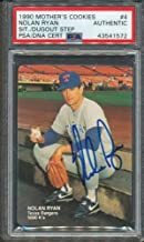 1990 Mother's Cookies #4 Nolan Ryan PSA/DNA Certified Authentic Autographed Signed 1572