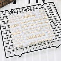 SHUOYUE 25Pcs /ロットOilpaper包装紙のためにパンのサンドイッチバーガーフライドポテト/食品グレードワックスペーパーベーキングツールキッチンガジェット3サイズ (Color : H 18x18cm)