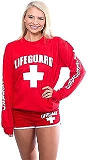 Red Crew Neck Sweatshirt for Women, Teen & Girls, Ladies.