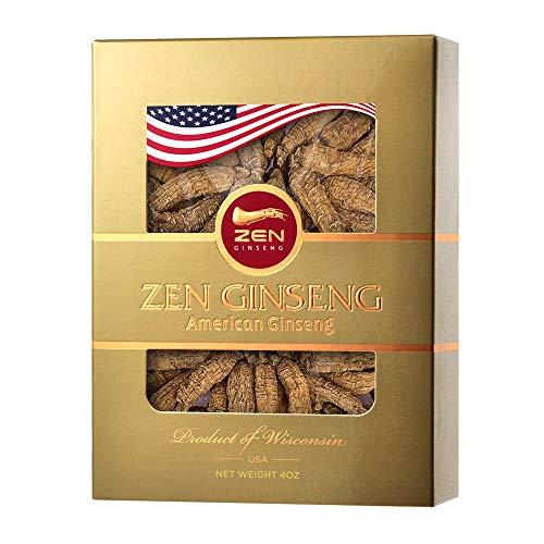 Special Deal: Kurze runde amerikanische Wisconsin Ginsengwurzel (113 g / Box) Zen Ginseng