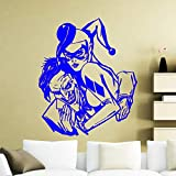 xingbuxin Autocollant Mural spécialement conçu pour Les Murs, Harley Quinn et Joker, Sticker Mural pour Le Salon intérieur DC Art Mural 3 42x53cm