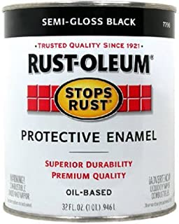 Rust-Oleum 7798502 Stops Rust, 32 oz. Quart, Semi Gloss Black, Can