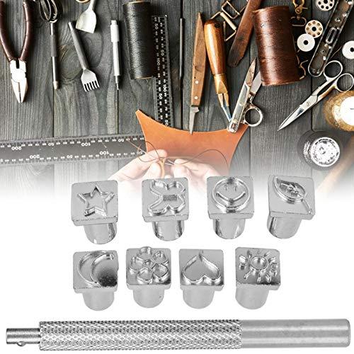 Herramientas de cuero Pattern-Puncher 8--Mold herramienta de impresión de cuero hecho a mano (perforador gráfico/58g)