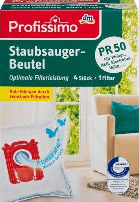 Profissimo Staubsaugerbeutel PR50, 1 Packung mit 4 Stück