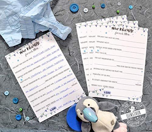 Gäste-Spiel für Babyparty, Ratschläge und Tipps für Eltern und Kind, 10 Karten zum Ausfüllen
