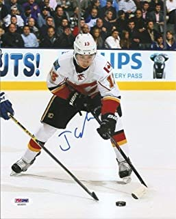 T.J. Brodie Calgary Flames Autographed Signed 8x10 Photo PSA/DNA COA