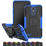 for LG Stylo 3 Case, Viodolge [Shockproof] Hybrid Tough Rugged Dual Layer Protective Phone Case Cover with Kickstand for LG G Stylo 3 (Blue)