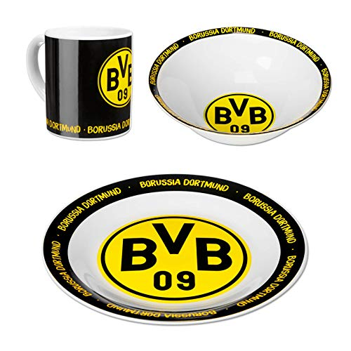 BVB-Keramik-Geschirr-Set (3er Set) one size