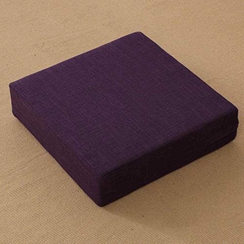 TYHZ Cojines para Sillas Cojín de Asiento de futón Cuadrado, Cojines de Tatami de janpanose espesarse sobre el Suelo sobre el Suelo Almohadilla de meditación de Yoga Cojines sillas Comedor