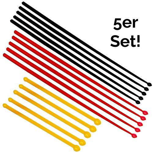 5er Set Mikro Dosierlöffel, mg Messlöffel, MICRO SCOOP (schwarz, rot, orange je 5 Messlöffel), antistatisch, BPA-frei - für das exakte Dosieren kleinster Mengen von Pulverprodukten