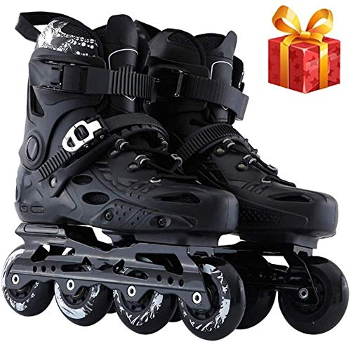NAYY Inline Skates for Outdoors Recreation Fitness Single Row Roller Blades Professional Inline Speed Skating Shoes Carbon Fiber Beginner Sports Men and Women for Adult Roller Skates