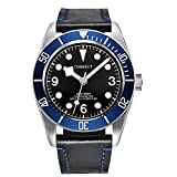 Corgeut Luminous Sapphire Glass Diver Automatic Mechanical Mens Watch,Miyota 8215 Movement (8010B-blue)