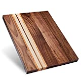 Sonder Los Angeles, Large Multipurpose Walnut/Cherry/Maple Wood Cutting Board, 17x13x1.1in...