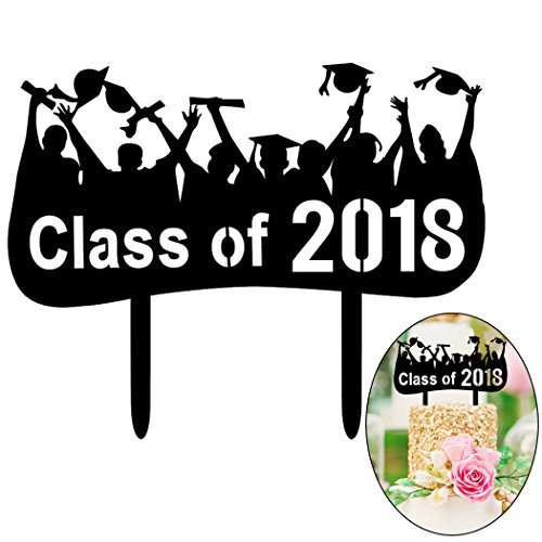 Funpa acrylhoed cupcake decoratie hoed klasse 2018 sign party cake hoed cup hoed cup hoed voor graduatie