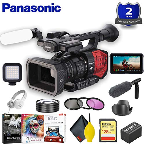 For Sale! Panasonic AG-DVX200 4K Camcorder with Four Thirds Sensor and Integrated Zoom Lens Accessor...