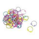 Sourcingmap - Elastici per capelli, con perline di plastica a forma di cuore, 50 pezzi
