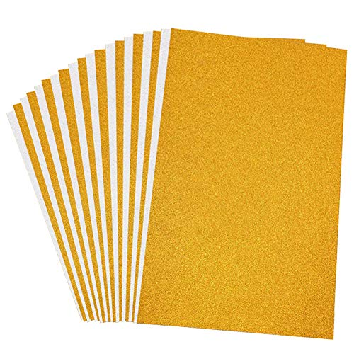 VGOODALL Glitter Paper Cardstock,20 Sheets Silver Gold Glitter Cardstock A4 Size 250gms Craft Paper for Card Making Scrapbooking DIY Craft Projects Birthday Party Decoration