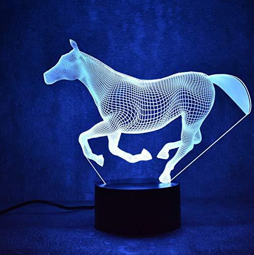 Led 3D Colorido Luz de noche USB Lámpara de mesa Lámpara Accesorios...