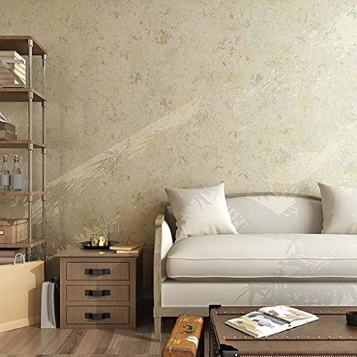 Behang, retro vaste verf behang non-woven wandpapier voor slaapkamer woonkamer keuken wandbekleding 53 cm (W) * 10 m (L) bruin