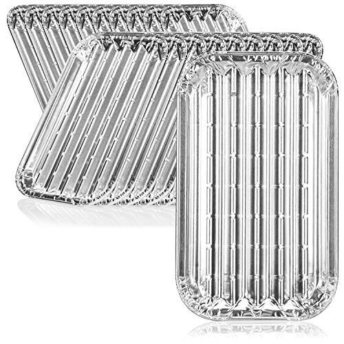 com-four® 20x Grillschale, Einweg-Schalen aus Aluminium, Alu-Grillpfanne zum Grillen, Kochen und Backen, Abtropfschale für Ofen, Grill und BBQ (20 Stück - 18 x 11 x 1.5 cm)