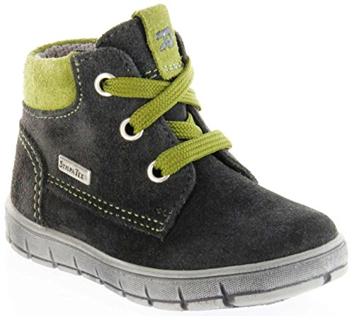 Richter Kinder Lauflerner grau Velourleder Sympatex Jungen Schuhe 1124-242-6501 Steel Info S, Farbe:grau, Größe:23 EU