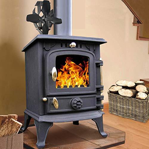 Lincsfire Harmston JA013S 5.5KW Multifuel Stove Clean Log Burning Fireplace Cast Iron Wooburner