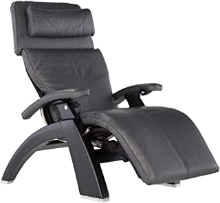 Perfect Chair Human Touch PC-610 Omni-Motion Power Black Matte Zero-Gravity Recliner + Jade Heat Therapy Kit - Gray Premium Leather - in-Home White Glove Delivery