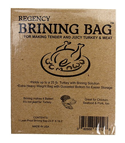 Regency Wraps Regency Brining Making Juicy Trukey, extra große Tasche mit Zwickel unten & Doppeldichtung, 1, transparent