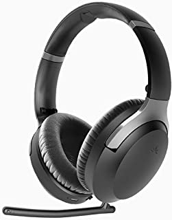 Avantree Aria Pro aptX-HD Bluetooth 5.0 Active Noise Cancelling Headphones Headset with Boom Mic for Music Calls, aptX Low...