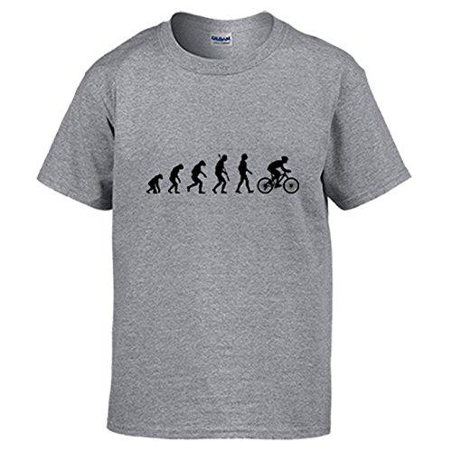 Diver Camisetas Camiseta Cyclist Evolution la evolución del Ciclista Ciclismo Bicicleta Bici - Gris, L