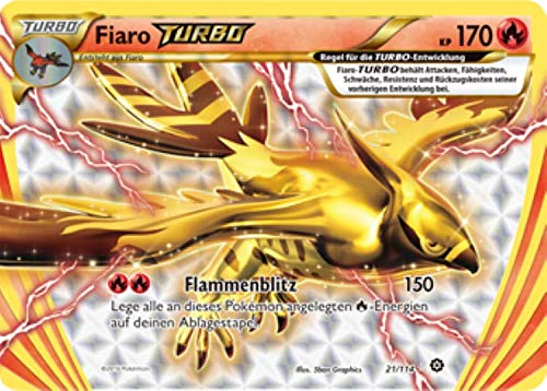 Fiaro Turbo 21/114 Pokémon XY Dampfkessel Sammelkarte - Deutsch - Cardicuno