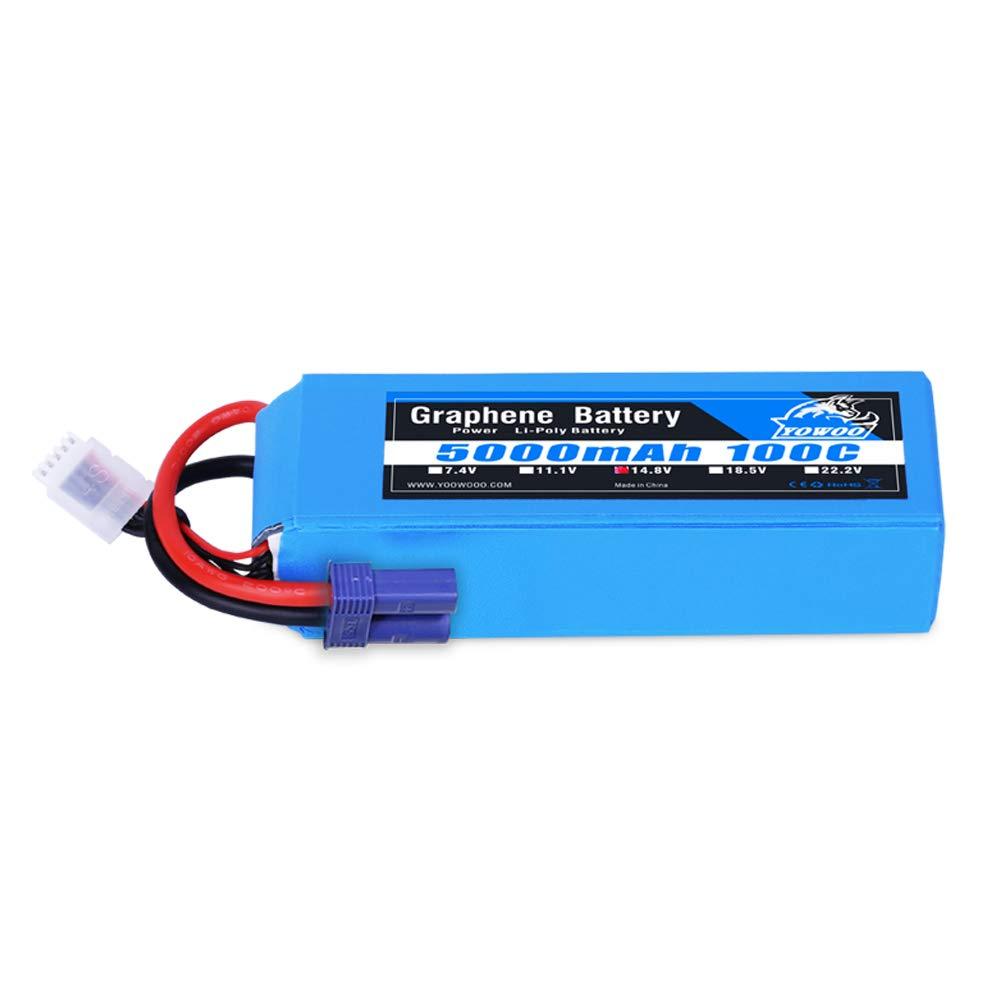 Bateria LIPO Grafeno 14.8v 5000mah 100C 4S Ec5 Plug YoWoo Po