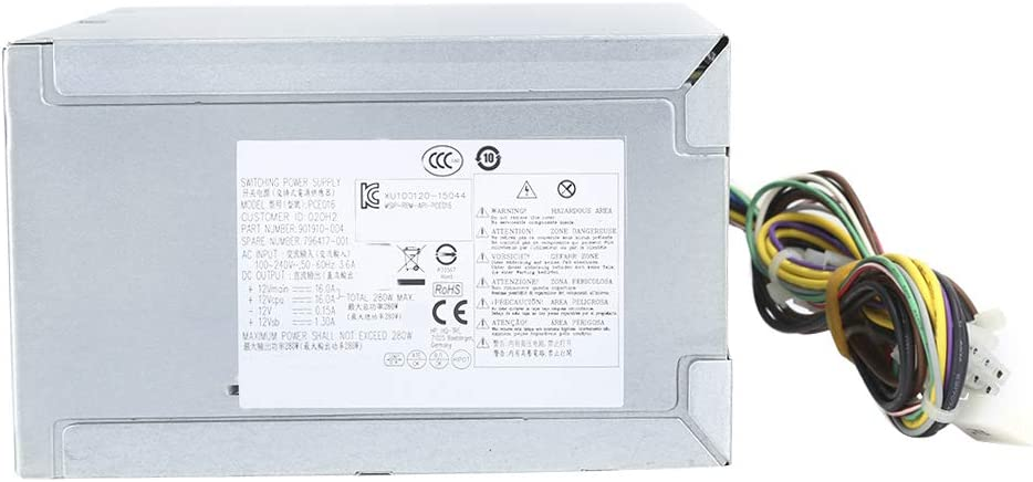 Power Supply Iron Ranking integrated 1st place Shell for Special price a limited time HP Computer 280W Rated Desktop PCE01
