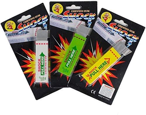 3 Pack of Shocking Gums - Funny Shock Gag (Random Color)